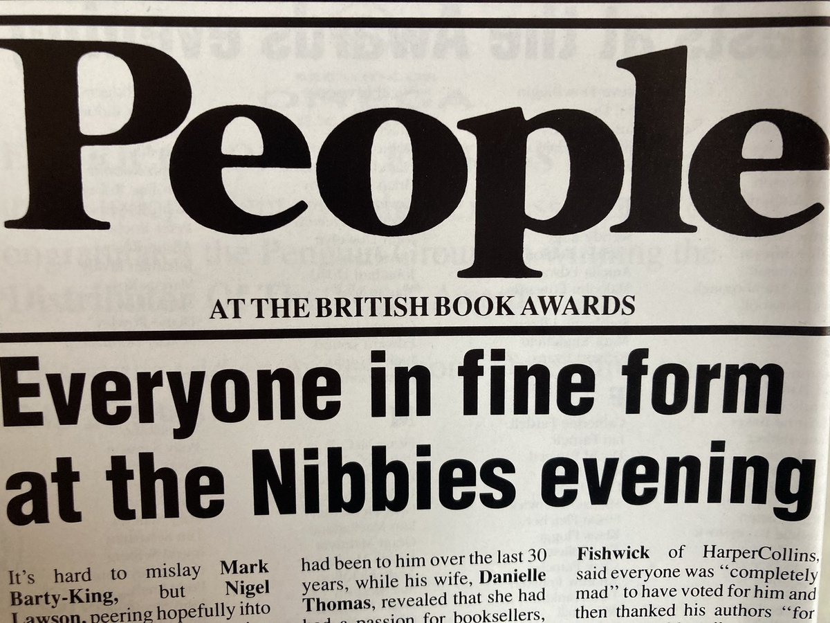 Next Book History Bite Newsletter coming very soon and it is on the #Nibbies (British Book Awards). Can you believe they began in 1990? Sign up here and find out what I found https://t.co/raP11qWIS5  #books #history https://t.co/jvboj7gVb2