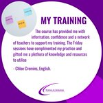 Thank you for the great feedback Chloe! We're really pleased that our training at KCSCITT is having this type of impact on our trainees. #teachertraining