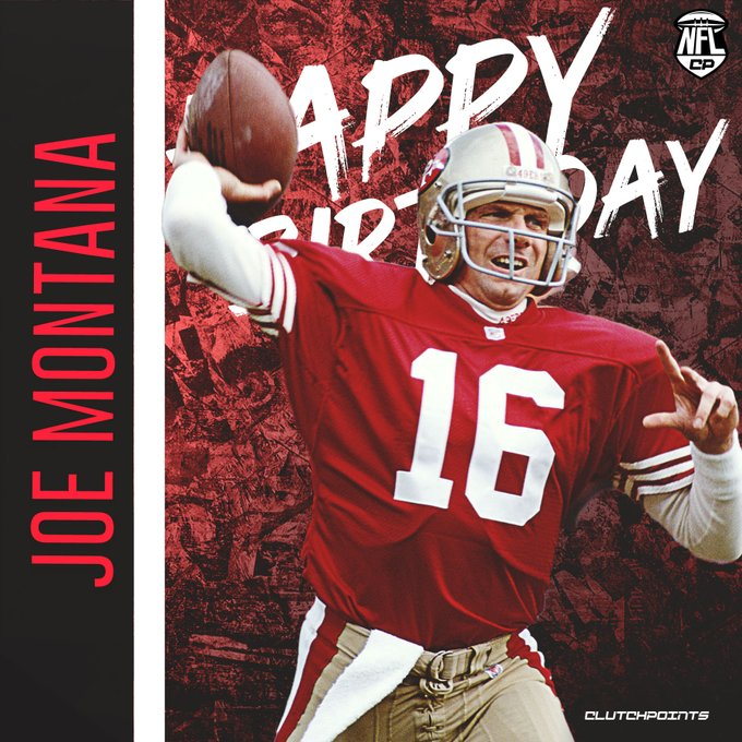 NFL fans, let\s all greet one of the GOAT QBs in Joe Montana a happy birthday!