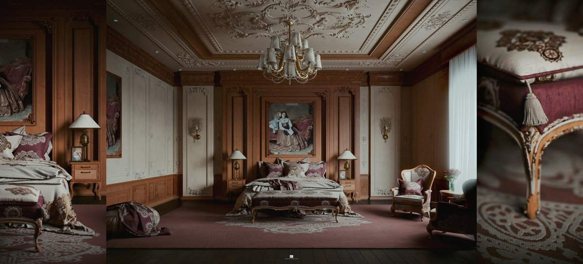 'Master Room Classic' by Rashed Abdullah. ✨  https://t.co/2oEWyOSbJg  #quixel #megascans #3dsmax #coronarenderer https://t.co/BTVpH2mX80