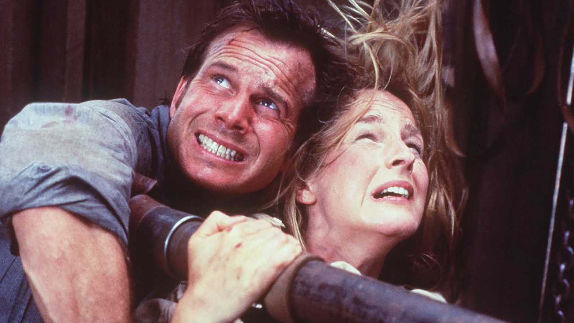 Helen Hunt says her idea for a 'Twister' sequel featuring 'all Black and brown storm chasers' was rejected Photo