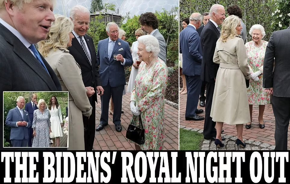 Joe and Jill arrive arm-in-arm for Royal reception with Queen, Kate, William, Charles and Camilla Photo