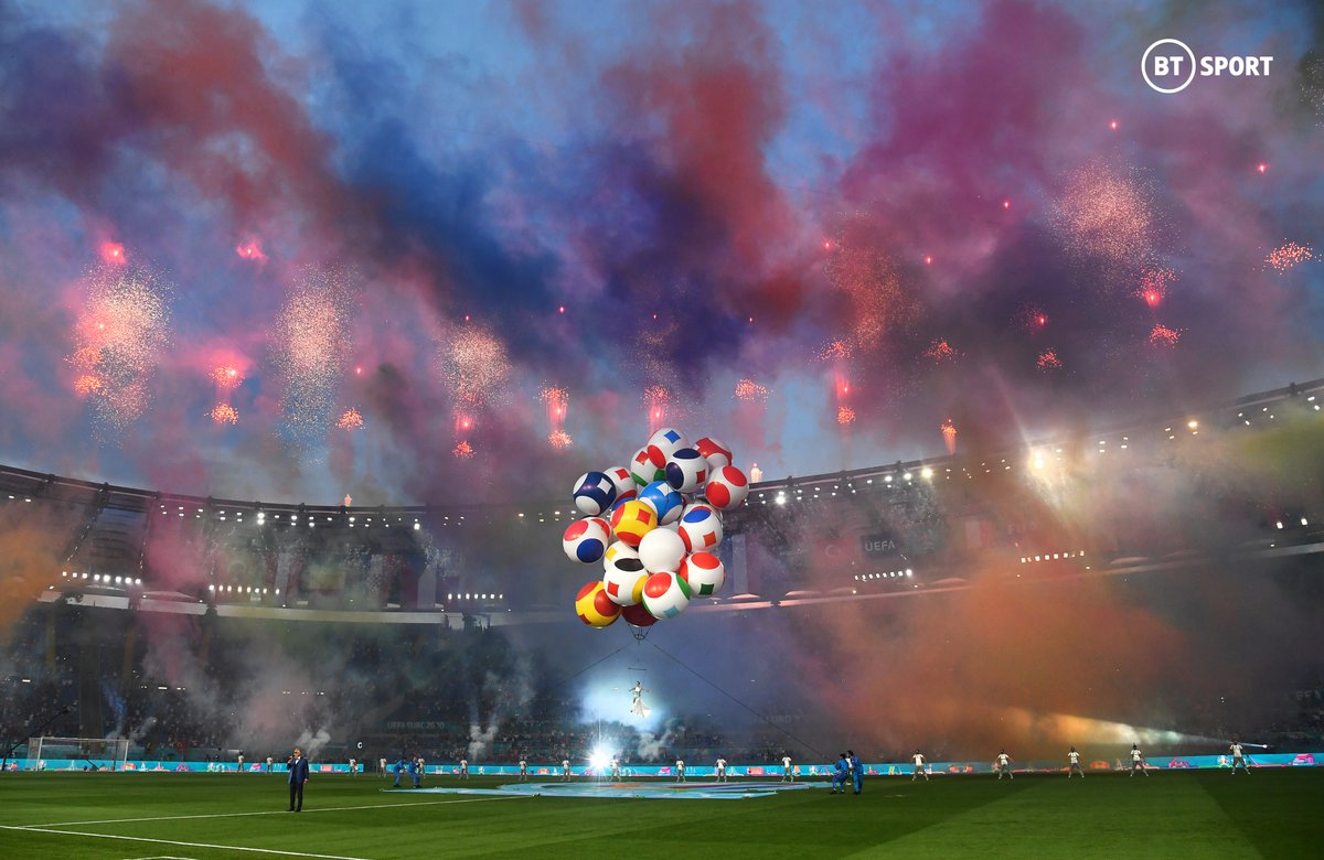 The stage is set, the fans are back, it's finally time!  Kick-off at  #EURO2020!! 🤩✨🏆 https://t.co/zZnPvRr0Fr