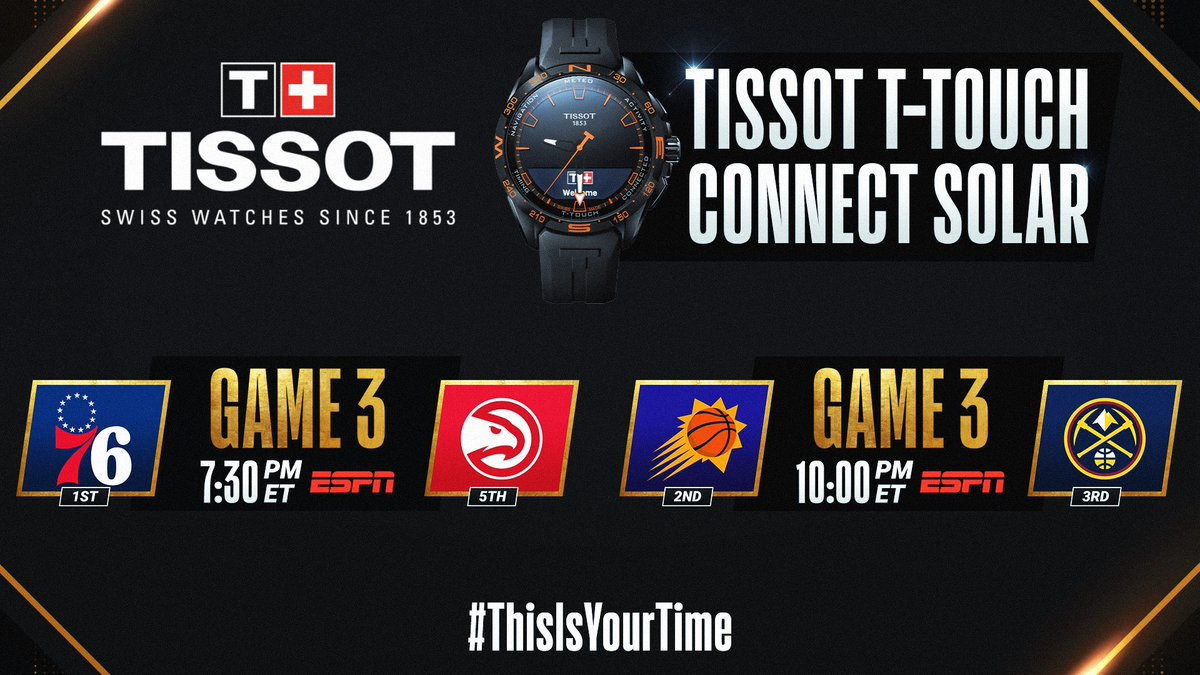 The #NBAPlayoffs continue tonight with an ESPN doubleheader! #ThisIsYourTime   🛒 Shop @TISSOT Here: https://t.co/IBgyQ4VIdS https://t.co/zXfuOp4NRW