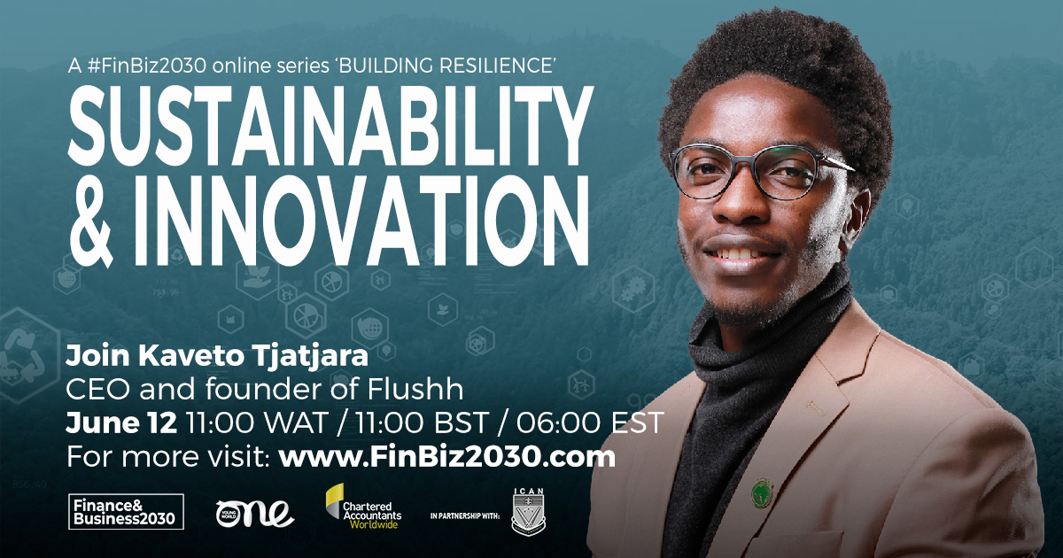 Finally, introducing speaker No. 9: Kaveto Tjatjara who is the current CEO and founder of Flushh. He will be speaking at the #FinBiz2030 @ICAN_NGR Webinar: #Sustainability & #Innovation.  WATCH him in action Saturday 12th- http://ow.ly/ugzk50F39AS