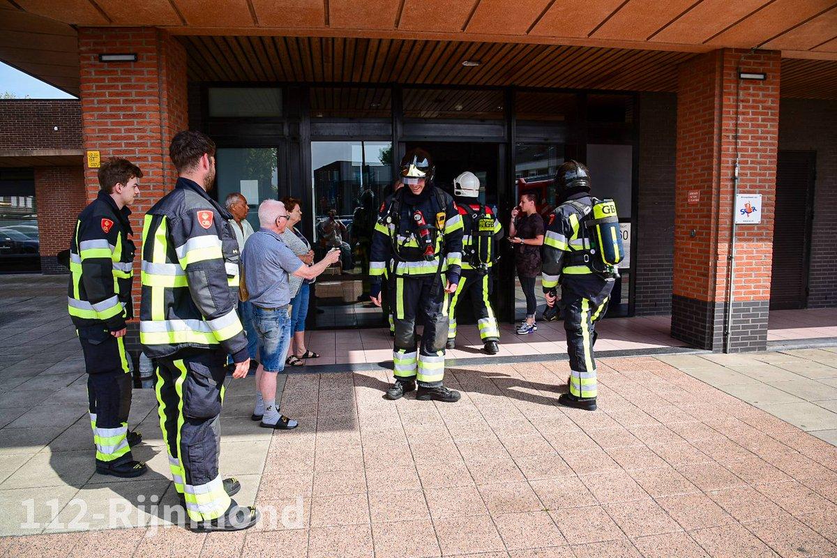 Melding brandweer Hoogvliet