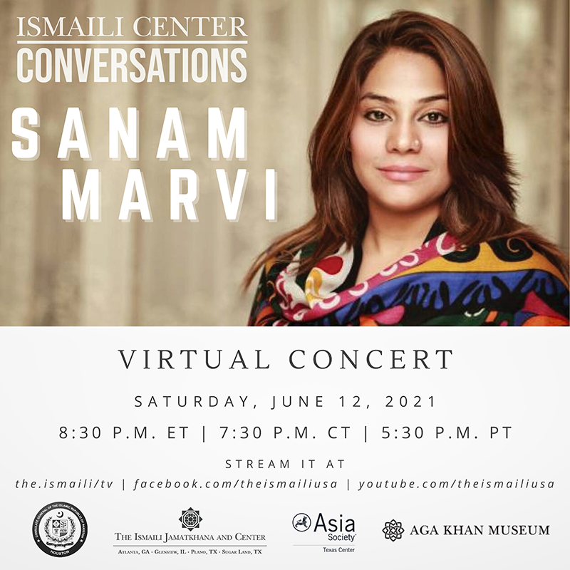 Tonight at 7:30 p.m. Central, join us for a virtual concert with Pakistani folk and sufi singer Sanam Marvi. The concert takes place via the @TheIsmaili's YouTube and Facebook! » https://t.co/3CZ6SuDuYI https://t.co/440hZtZRis