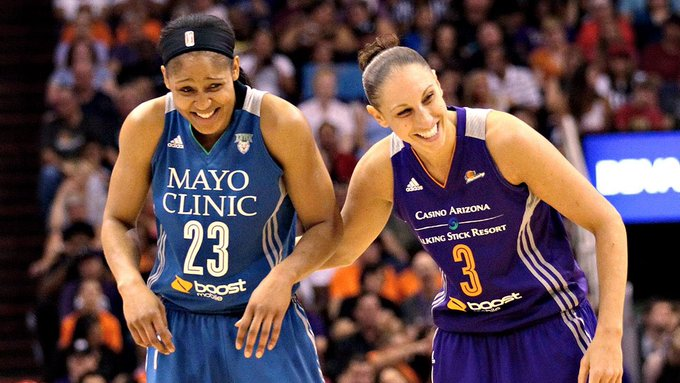 Two GOATS born on the same day  Happy birthday to Maya Moore and Diana Taurasi!