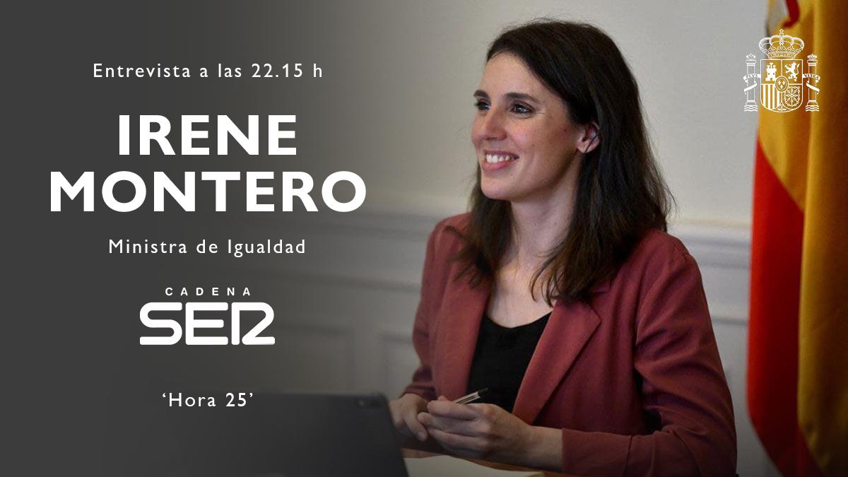 Twitter Ministerio de Igualdad. 📻 La ministra de Igualdad, @IreneMonte...: abre ventana nueva