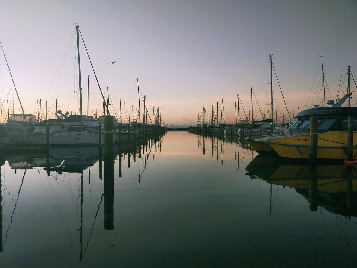 Calm morning at West Harbour Marina, Auckland