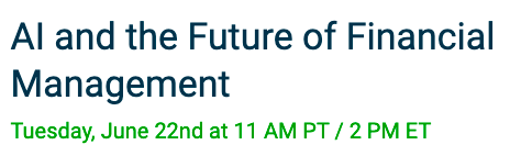 Join us June 22nd for #SageIntacct's AI and the Future of Financial Management Webinar. Learn how AI can extend your finance team and build continuous trust and more. Register here: https://t.co/cqpZTrpTtn #CloudERP #CFOs #FinancialManagement https://t.co/XAJPH1Q9aq