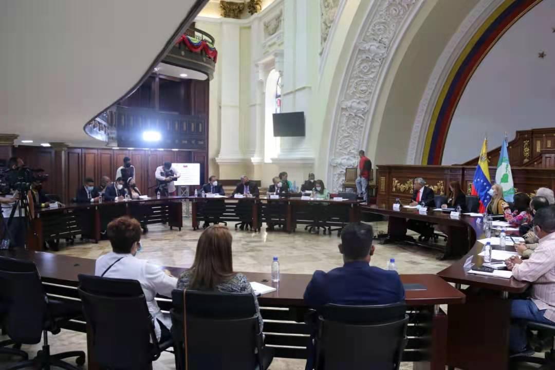 """Rander Peña's tweet - """"HOY// Acompañamos a los Diputados(as) de la Asamblea  Nacional en la sesión de instalación del Grupo Parlamentario Venezolano  ante el Parlamento latinoamericano (GPV-Parlatino), saludamos y expresamos  los mejores"""