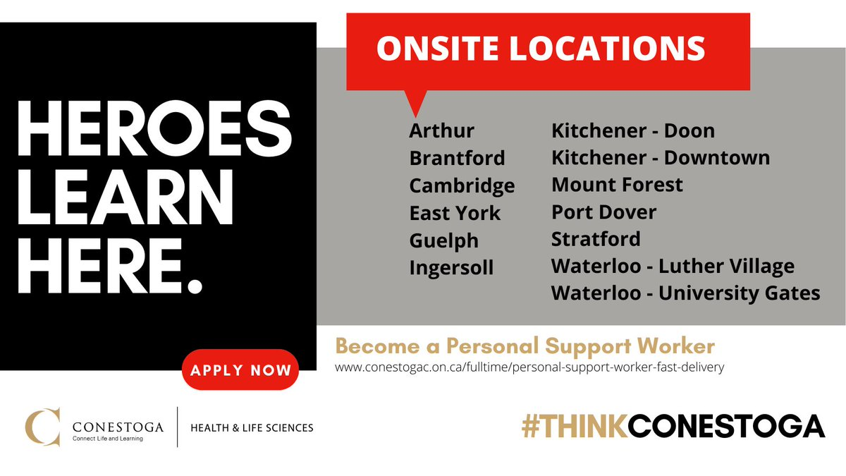 Today was another big day at @ConestogaC. 448 students started #PSW-FAST as part of the @ONThealth initiative. All 13 #ONSITE locations provide support students with their labs.  #PSWa #HealthcareHeroes #HeroesLearnHere @ThinkConestoga https://t.co/N1Xbs3XYmf