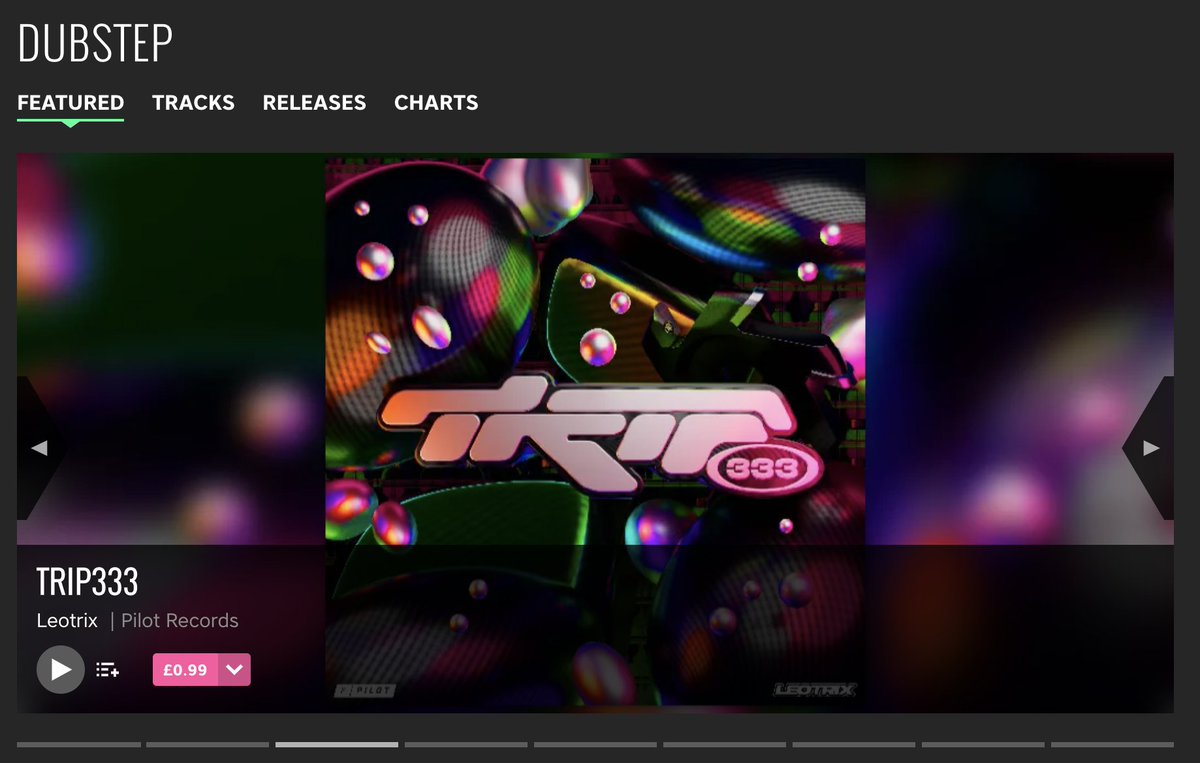 our first dubstep release in years (as @PilotRecordsUK) and we got that beatport banner :')   big love to @jlmafi for making this happen ✨ https://t.co/egnottMQDd