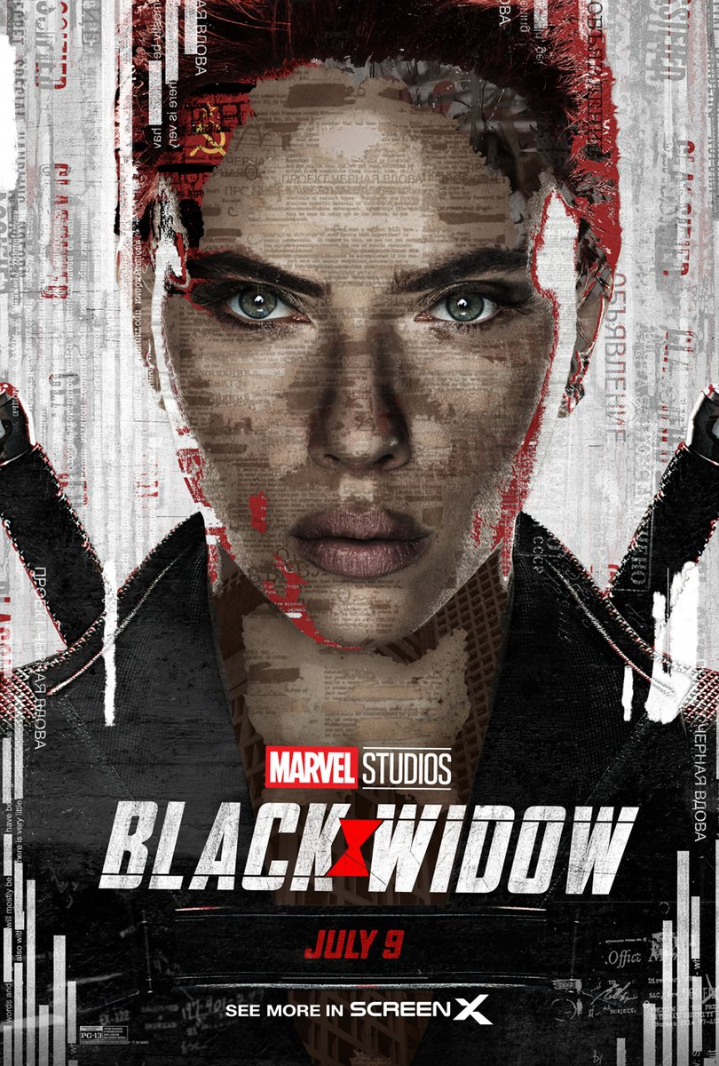 Check out the ScreenX exclusive @MarvelStudios #BlackWidow poster and experience the movie in ScreenX on July 9!   Tickets on sale now! https://t.co/hvkbSPxbUi