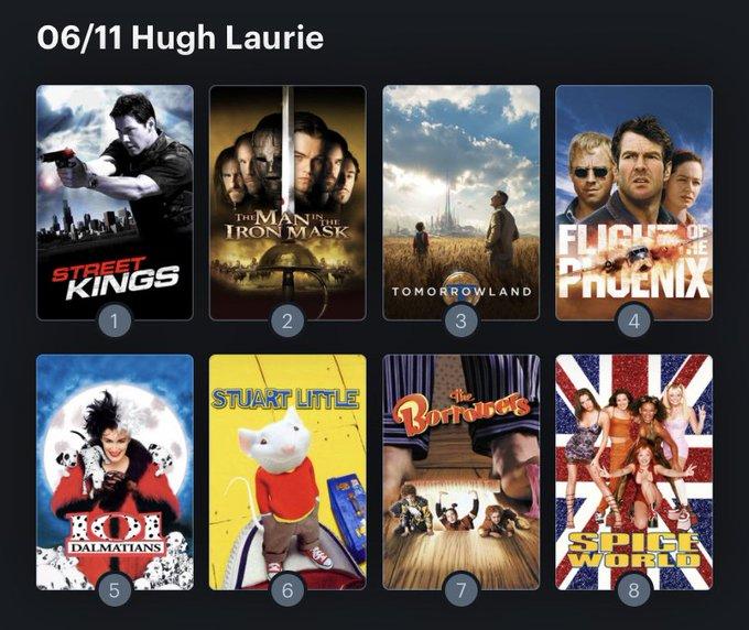Hoy cumple años el actor Hugh Laurie (62) Happy birthday ! Aquí mi Ranking: