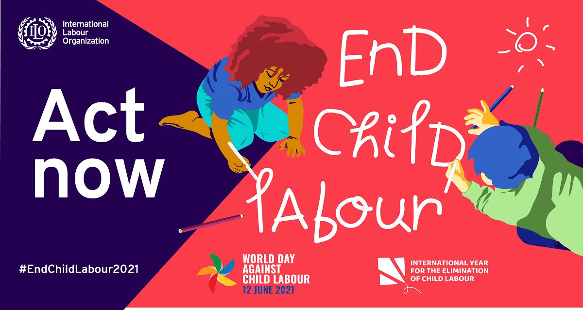 🧸 Playing 📚 Learning 🌟 Dreaming  Millions of girls & boys are missing out on these key elements of a healthy childhood because they are trapped in child labour.   Saturday is #NoChildLabour Day.  https://t.co/fIBoQhvXTV via @ILO https://t.co/mATyvW0exn