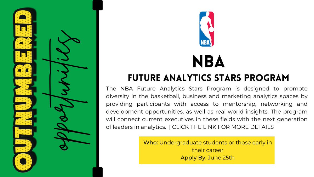 ‼️ @NBA Future Analytics Stars Program ‼️  How our very own @holliscbrown got her start with the @MilwaukeBucks 🏀 A great program go check it out now!!! https://t.co/c1ZOnrSyY8 #NBACareers #BusinessandBasketball #sportsbiz  #WorkinSports https://t.co/Cb4R17eNuB