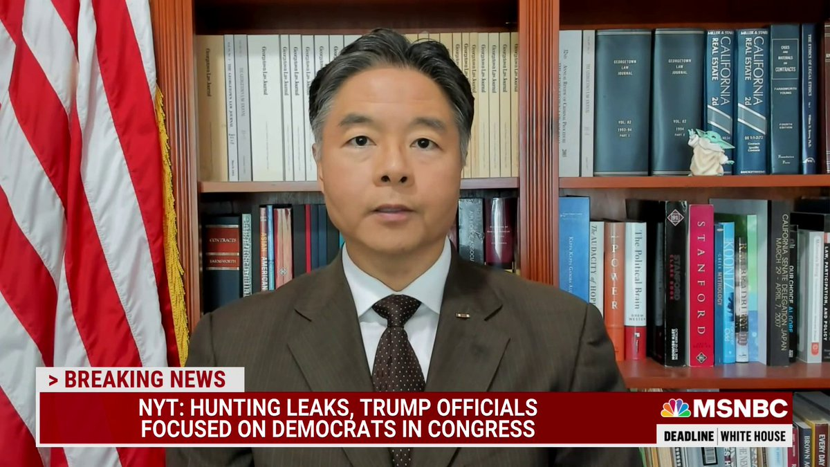 """""""These folks at the Justice Department, every one of them including Merrick Garland took an oath. That oath was not to a president, it was not to the office of the president, it was to the Constitution of the United States"""" - @tedlieu w/ @NicolleDWallace https://t.co/qgFgSlgtUy"""