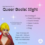Image for the Tweet beginning: Join us for Queer Social