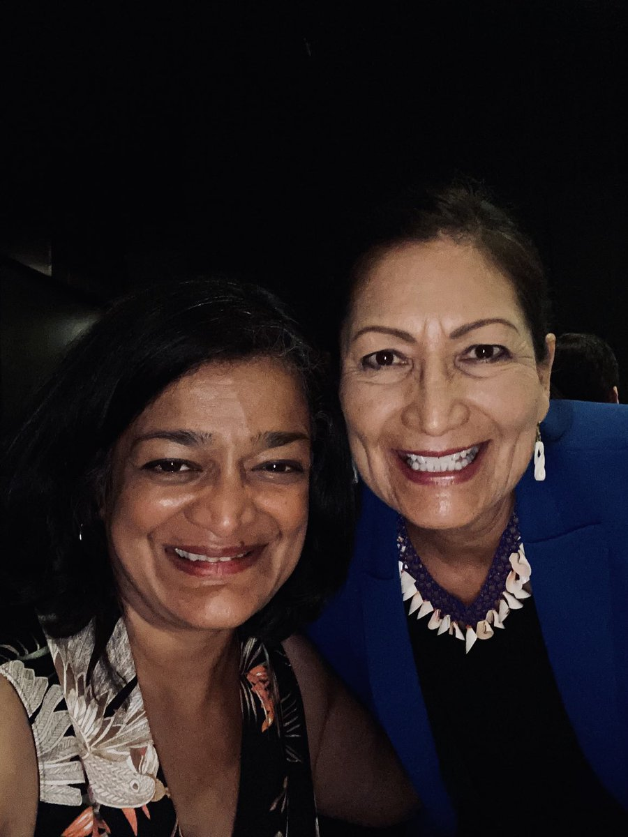 So wonderful to share a meal with my dear friend @DebHaalandNM, to be inspired by her leadership as always, and to call her Madam Secretary in person! America is so lucky to have her in this position. 💕✊🏾🙏🏾 https://t.co/2SfP1KDhmr