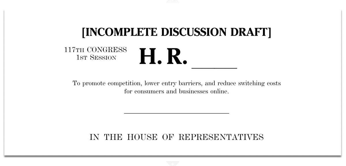 アメリカのテック企業を制限する独占禁止法関連の法案が5つ出た。 中でも「Platform Anti-Monopoly Act」...
