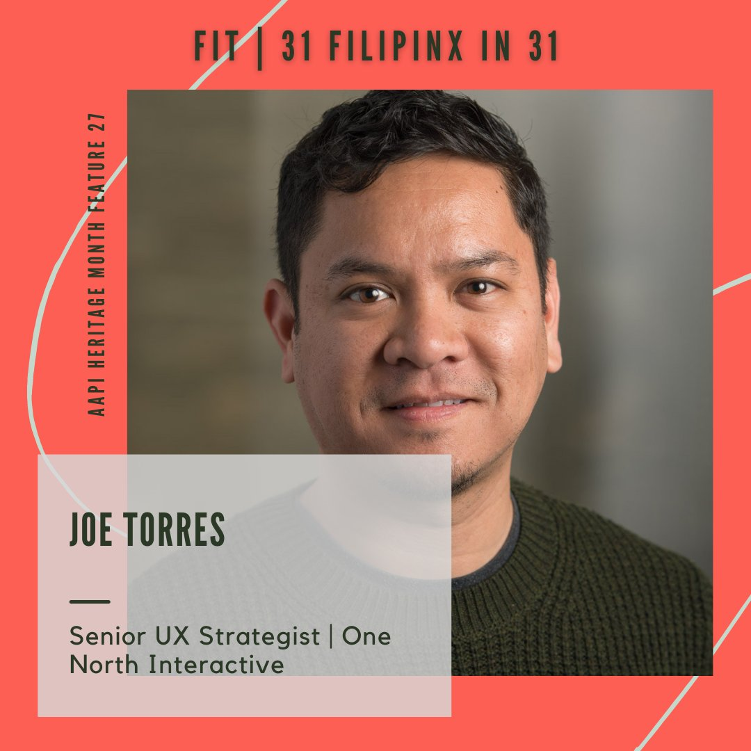 Meet Joe Torres our #27of31 for our #31of31 for #AAPIHM   Senior UX Strategist   One North Interactive   #filipinxintech #techleaders https://t.co/ysdX58mPRB
