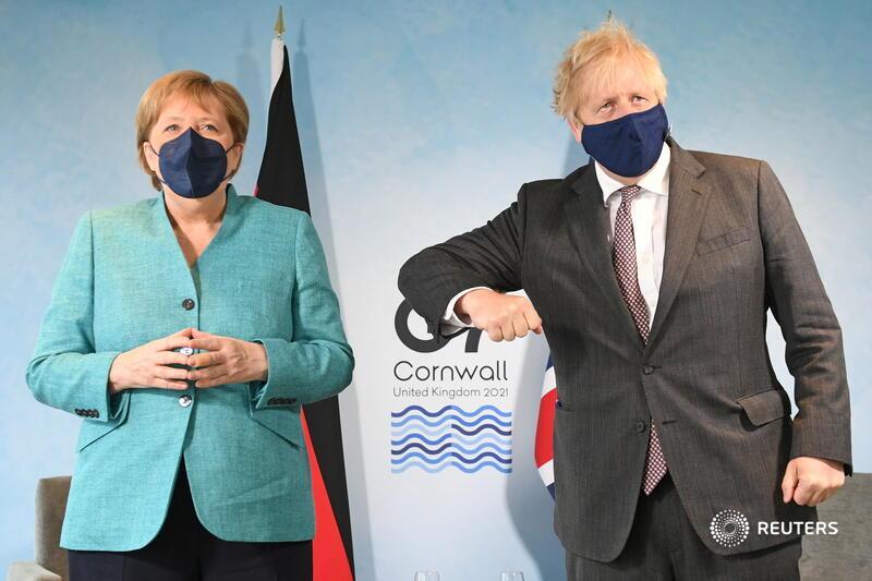 Merkel and Boris #G7Summit2021 https://t.co/xDB3f7ObYl