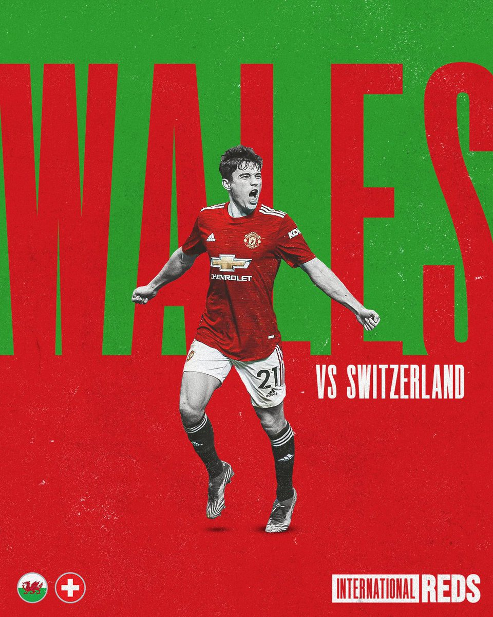 🏴 @Cymru kick off their #EURO2020 campaign against Switzerland later today...  Wishing @Daniel_James_97 and @DylanLevitt all the best for the tournament ahead! 🤞  #MUFC #WAL https://t.co/qnsBPbNk7w