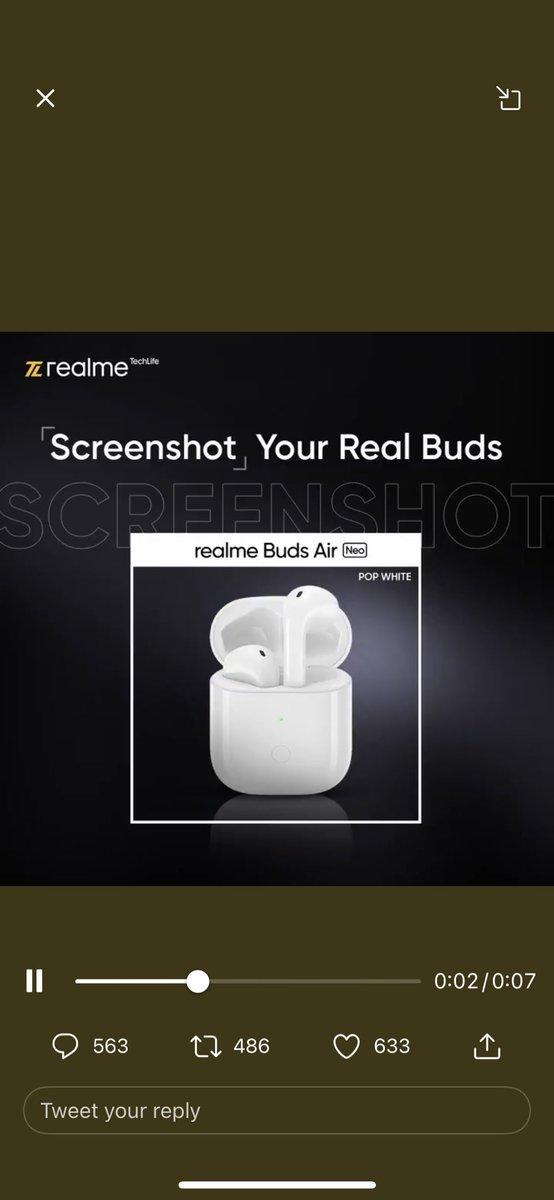 @realmeTechLife Realme Buds Air 👇  #ThrowbackTuesday  #realTrivia #Contest  @realmeTechLife https://t.co/y609NCqZVZ