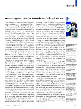 「2020東京五輪について世界規模の議論が必要」とする2021/6/12付け英医学誌『ランセット』の論説全文PDFをJPEG化しました。下記でHTML版全文の閲覧とPDFのダウンロードが...