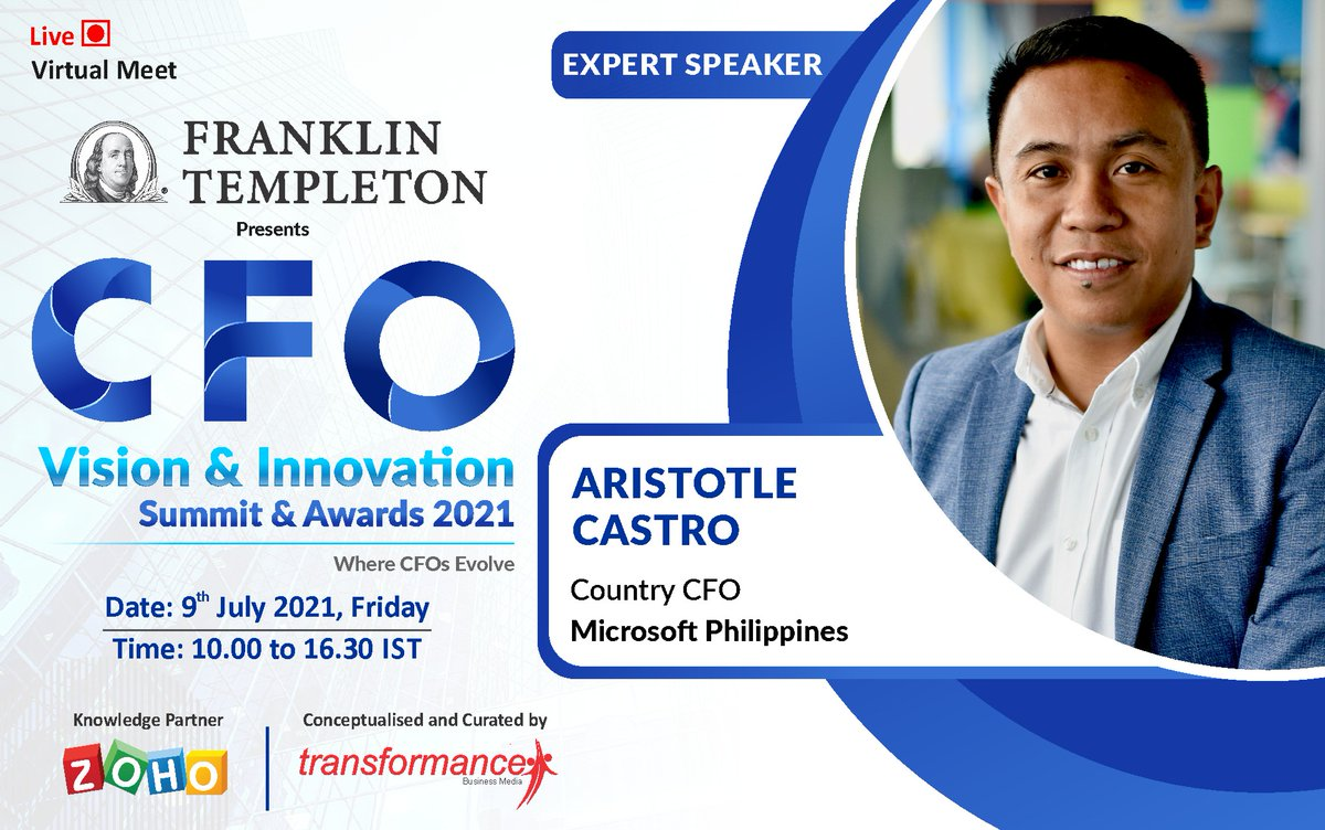 Learn with Aristotle Castro in an exciting #firesidechat : Driving full value of #digitaltransfromation in #finance.  Grab Your #vip pass.....Want to #nominate for awards?: https://t.co/hjGbUwdh26  #cfos #cfoinsights #chieffinancialofficer #cfocommunity  #transformanceforums https://t.co/xc3xIG1lqi