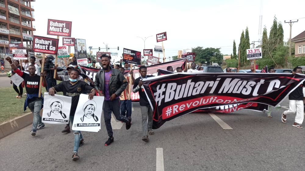 #BuhariMustGo : #June12thProtest Kicks Off In Abuja.