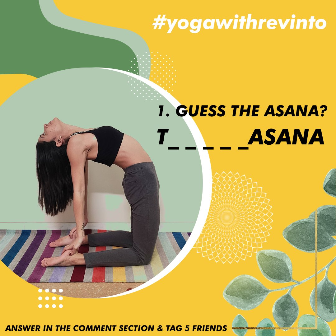 1. GUESS THE ASANA? Answer in the comment section & tag 5 friends Winner picked Via LUCKY DRAW. #yogawithrevinto  #giveaways #revinto #winners  #skincareproducts #contest #promotion  #yoga #fitness https://t.co/L6cWtCtzET