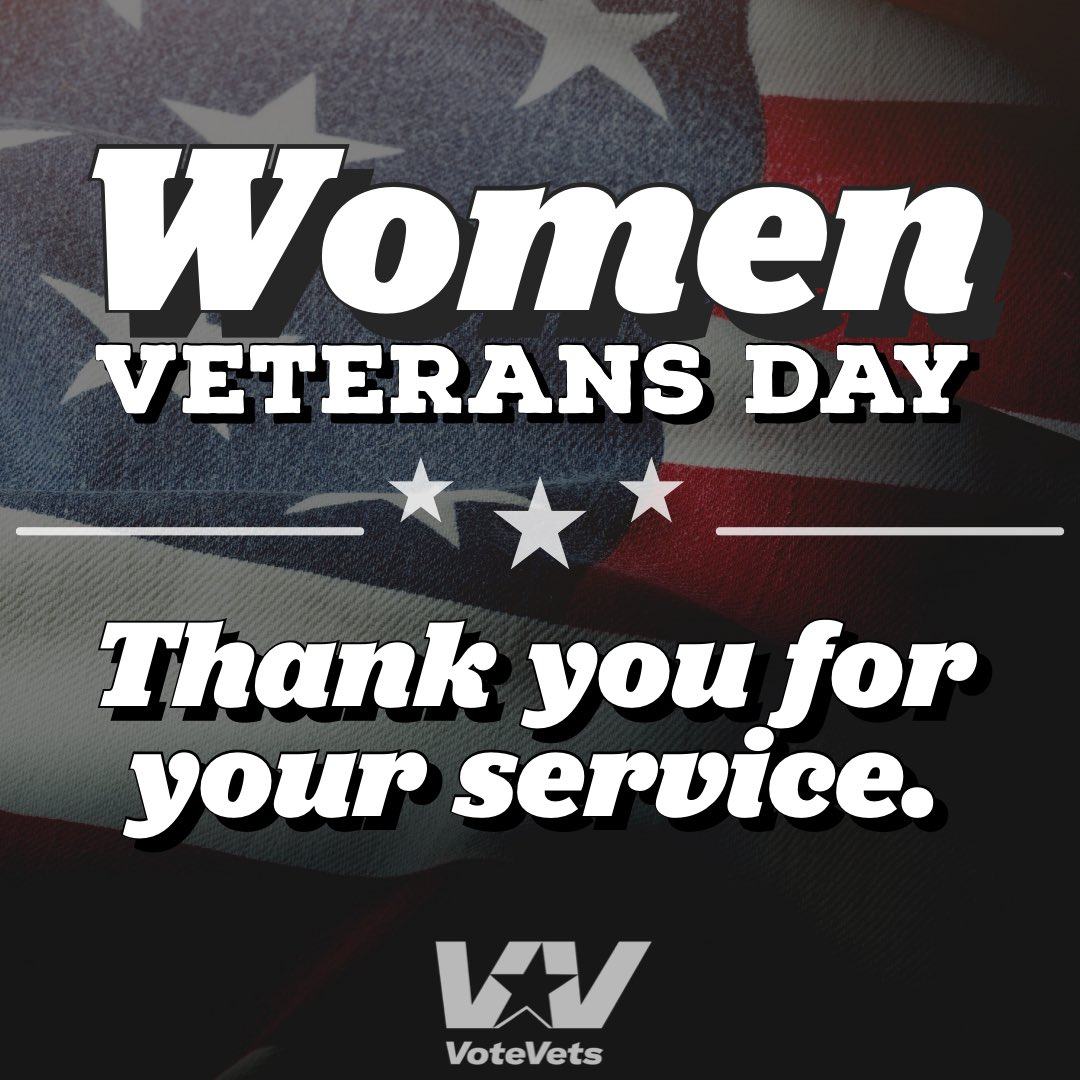 Women are the fastest growing veteran population. Today and every day, we honor their strength, courage, and commitment.   Thank you for your service. 🇺🇸 #WomenVeteransDay https://t.co/QyMG4OsMQU