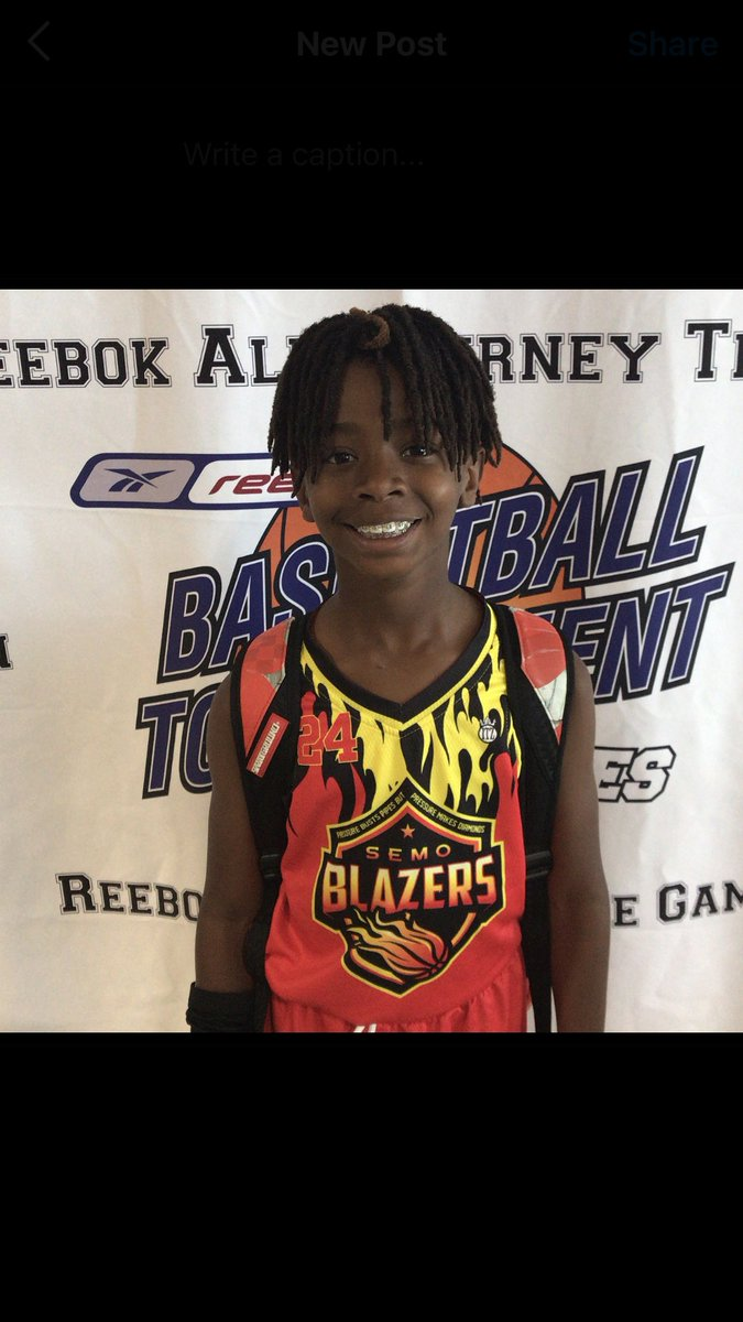 Player of the game  Tristain Johnson  SEMO Blazers  3rd Grade  9 pts  Favorite Player: Kobe Bryant  #reebokseries https://t.co/gadfN8TBL9