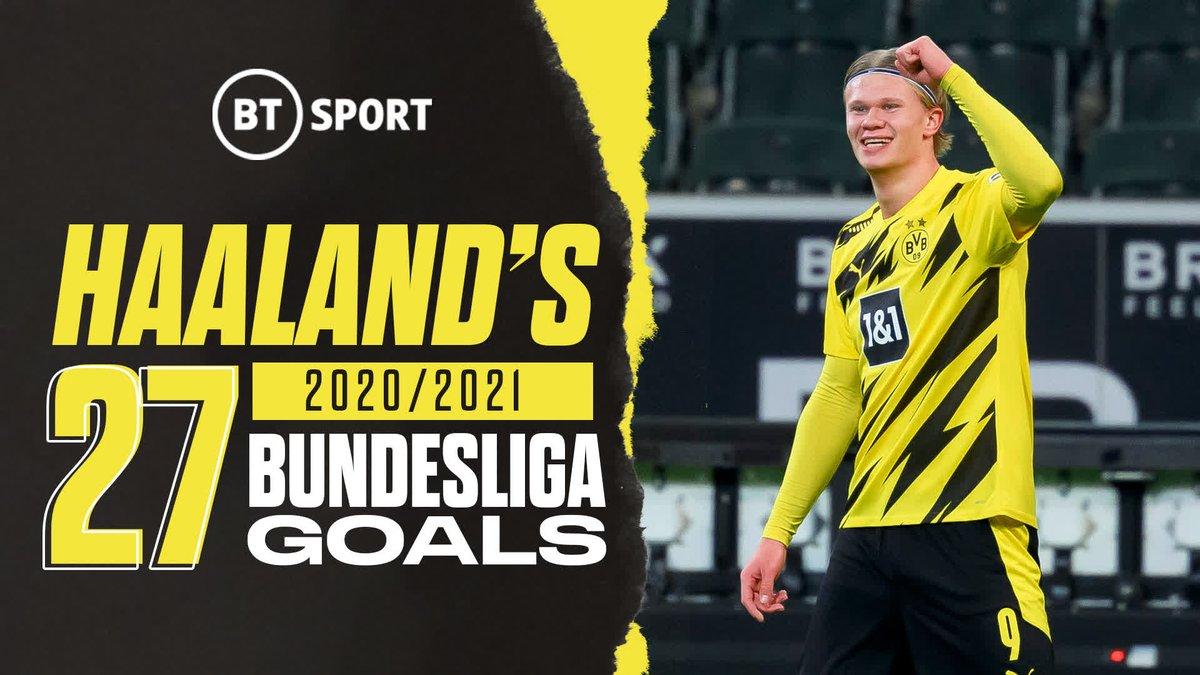 Built different 🤖  Erling Haaland is a machine!  Enjoy the 20 year old's 2️⃣7️⃣ Bundesliga goals from 2020/21 🎯 https://t.co/IiQQWagXDt