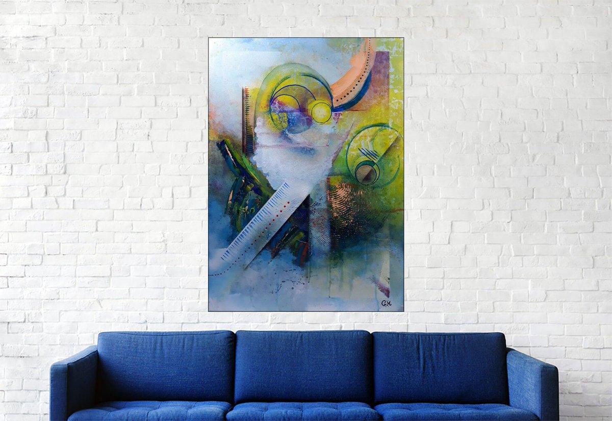 """Bonjour, voici ma dernière création, n'hésitez pas à commenter, liker et partager :) #166 """"Exile"""" Acrylique sur toile, 70x50 cm https://t.co/3WbYETOuHl #abstrait, #acrylique, #abstract, #acrylic, #painting, #toile, #art, #fineart, #abstractpainting, #modernart @artmajeur"""