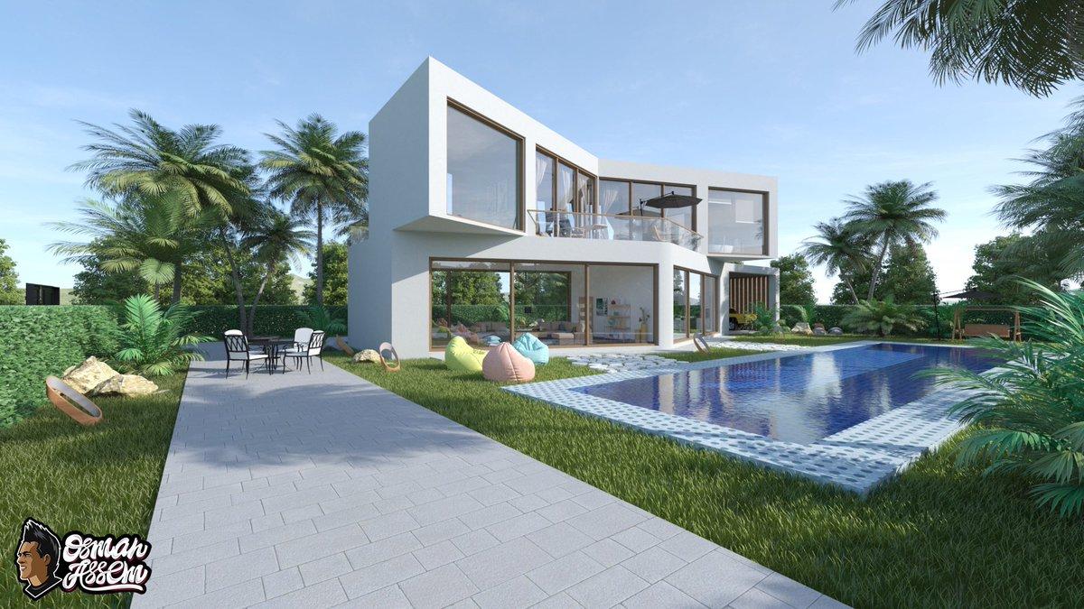 Private modern beach house using Cinema 4d & Corona Renderer. Full project https://t.co/9b0xewBz95  @CoronaRenderer   #coronarenderer #c4d #architecture #cinema4d #3D https://t.co/2MVdlQxTB8