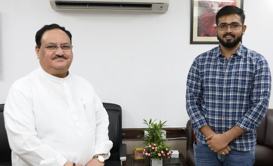 It is indeed a pleasure to meet @JPNadda ji,Nat. President of @BJP4India at his residence. He is an inspiration for youth like me. I thank @Sunil_Deodhar ji, Nat. Secy. fr introducing me to nadda ji & giving me the platform to work for the people of Northeast since last 8 years. https://t.co/TzCfDNR9TA