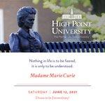 [CALENDAR] #DailyMotivation from Madame Marie Curie. #HPU365