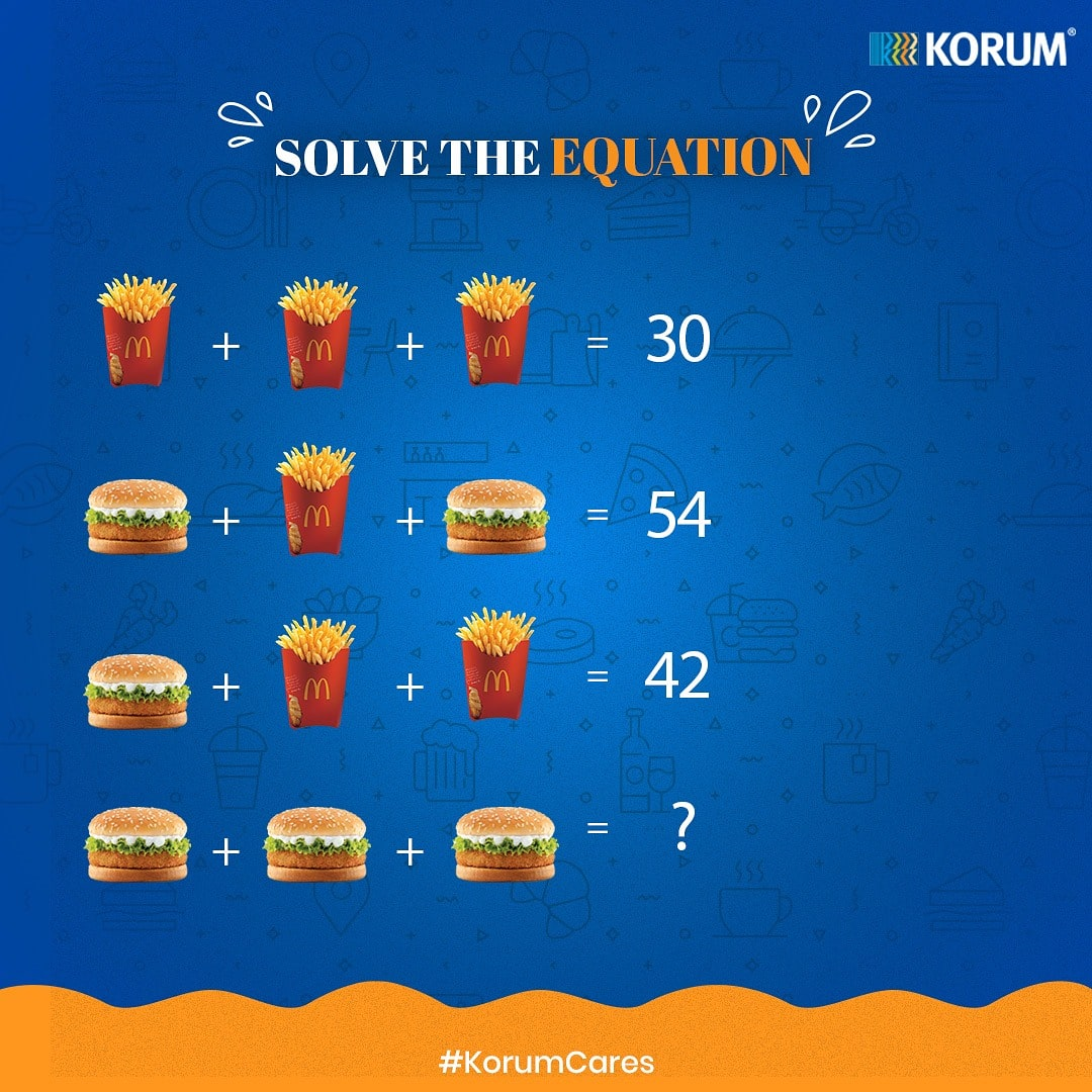 #KorumContestAlert Are you in for some fun challenge?  Solve the math quiz that's here to tickle your brain. Tell us the exact number and win some exciting shopping vouchers.   Comment below the number & tag 3 of your friends in the contest.   *T&C applied  . . #Korumcalling https://t.co/Ro07SasTRW