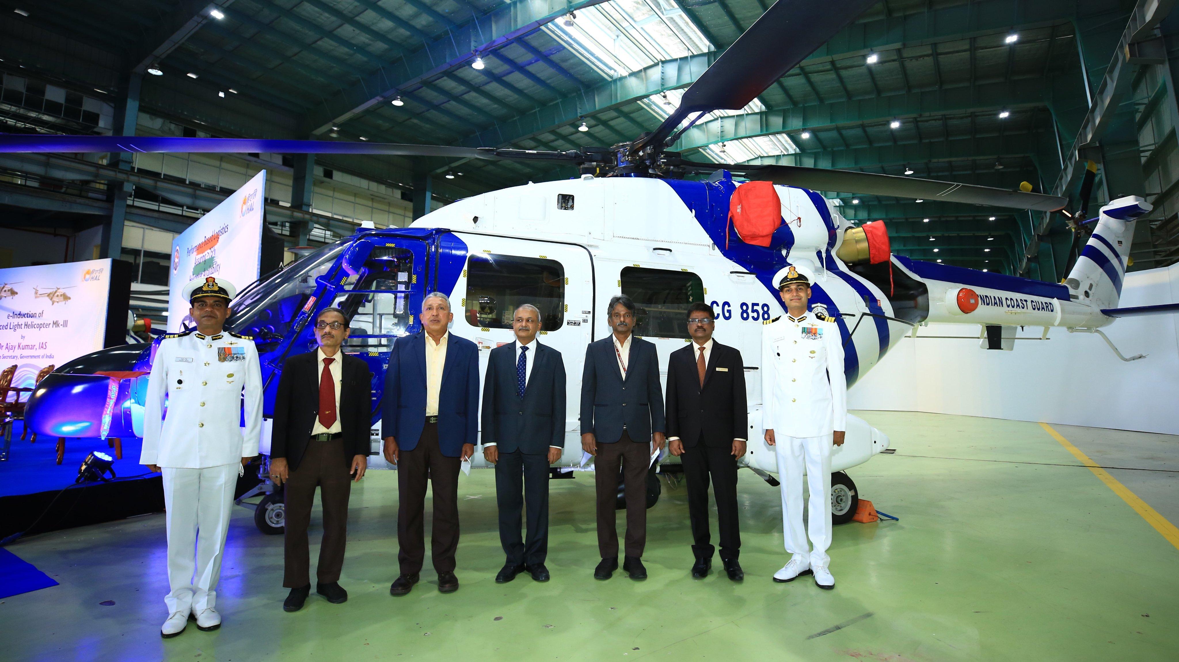तटरक्षक बल ने उन्नत हल्के हेलीकॉप्टर एएलएच एमके-III को शामिल करके अपनी विमानन शाखा में नए आयाम जोड़े