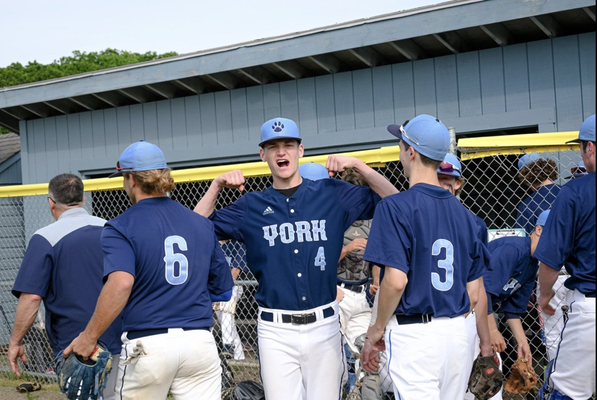 test Twitter Media - Wildcats in Action Today: @YorkBaseballME Baseball Class B Regional Semifinals ⚾️🐾 @YHSWildcats   #5 York vs. #9 Freeport  3PM HOME at York High School  Wildcat Nation get pumped like Evan and bring the noise! https://t.co/9zzGqFfj91