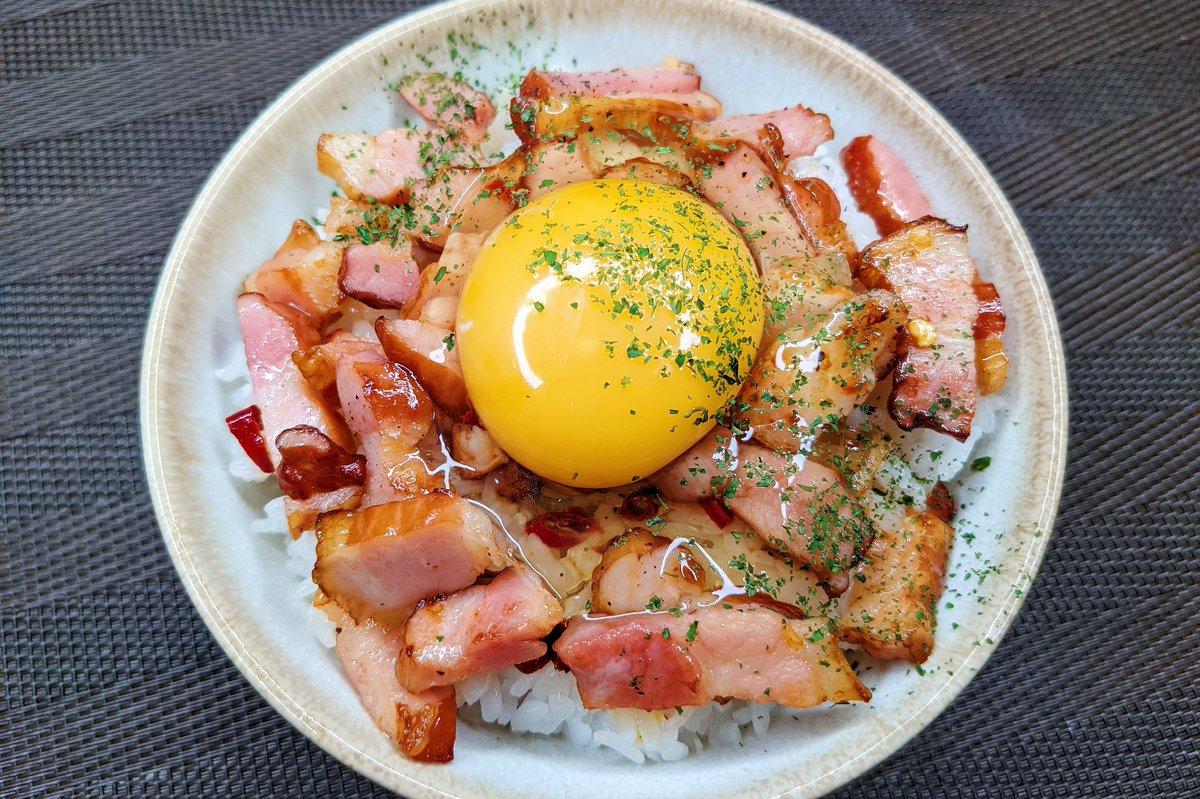 簡単で美味しそう!ベーコンを使った丼ものレシピ!