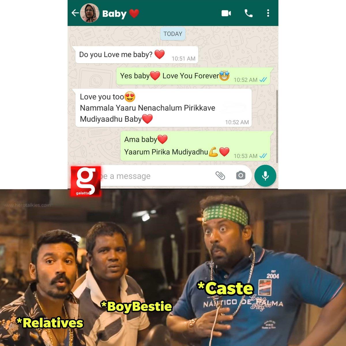 Ithudan Vilayattu Seidhigal Mudivu Adaikinrana 😌  #Love #Relationship #Whatsapp #Religion #BoyBestie #Caste https://t.co/YqnrVEvln4