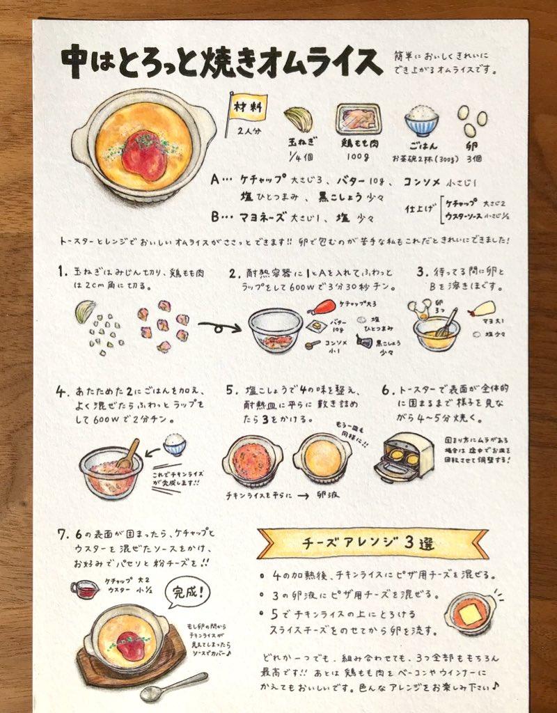 カフェに出てきそう『とろっと焼きオムライス』これならきれいに簡単に作れる