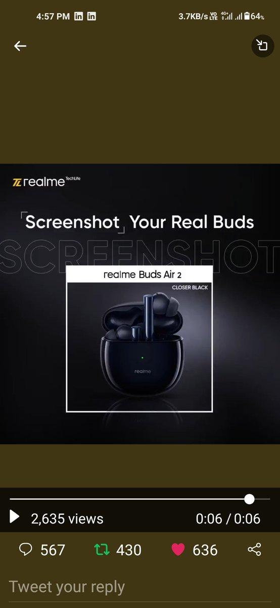@realmeTechLife realme Buds Air 2 is my favourite   #realTrivia @realmeTechLife https://t.co/UkWt0xXmAu