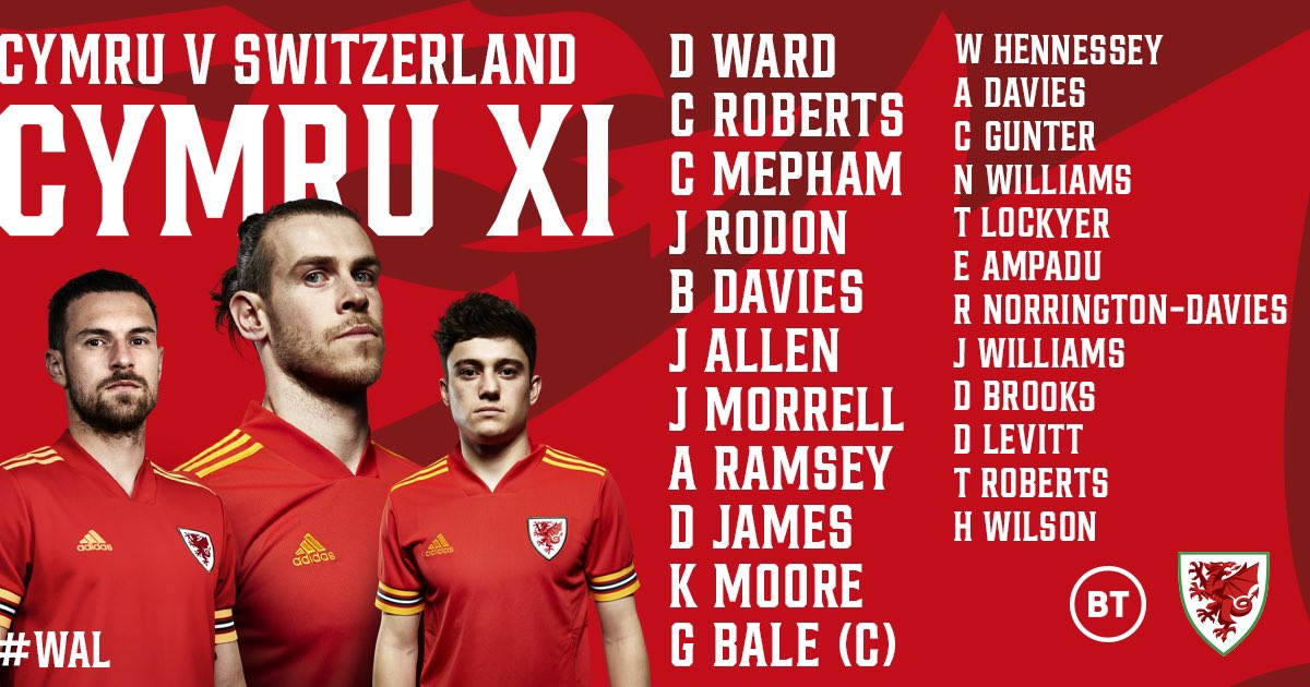 YN CYNRYCHIOLI CYMRU  🏴 v 🇨🇭  It's time to make our country proud.  #WAL | #EURO2020 | #CmonCymru | #TogetherStronger https://t.co/fFxldh6nWI