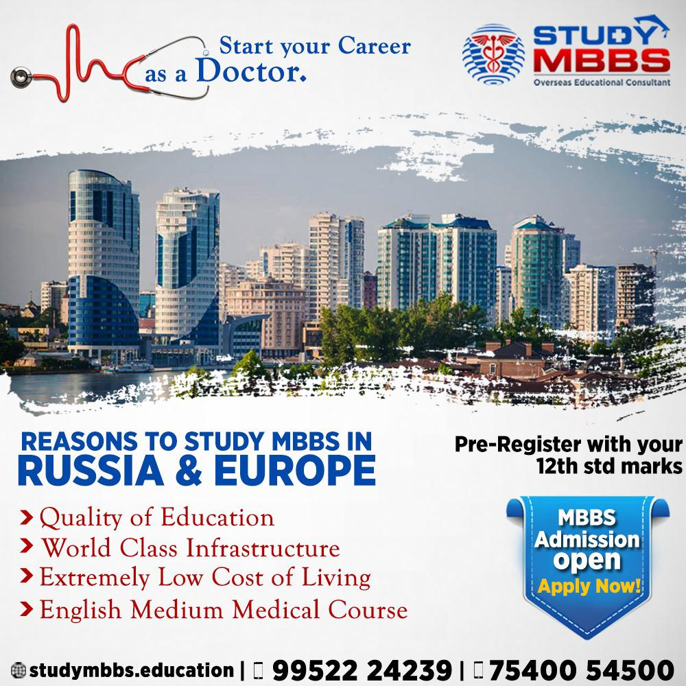 Study MBBS in Abroad with best Universities & Study Medicine in Foreign Universities  #studymbbs #studyabroad #studymedicine #abroadstudy #Studymbbsrussia #studymbbsukraine #studymbbscanada #studymbbsmalaysia https://t.co/MtKRvqTPam